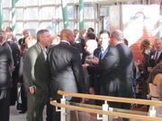 Attendees networked and visited display booths during the Dayton Development Coalition annual meeting Tuesday afternoon at the Schuster Center in downtown Dayton.