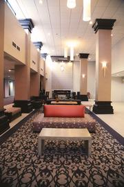 The lobby after.