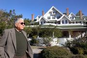 Belleair Mayor Gary Katica outside the hotel