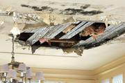 A bottom floor meeting room's ceiling has caved in and the rubble sits in a pile on the termite ridden hardwood floor. Belleair Mayor Gary Katica once married two couples in this room overlooking the grand swimming pool.