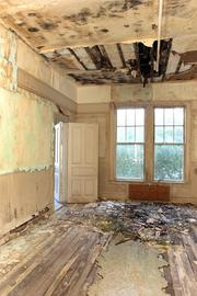"""A first floor room full of mold and rubble. """"The top floors are in worse shape than these,"""" said Gary Katica, mayor of Belleair."""