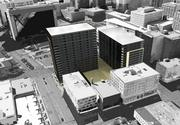 The proposed Eclipse condo project in Minneapolis. A new Whole Foods Market is open in the block on the bottom left corner of this rendering.
