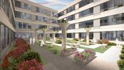 How the courtyard serving the residents of the redeveloped Hecht Co. warehouse might look.