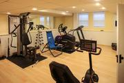 The exercise room is in the lower level.