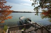 The home has a dock on Long Lake and more than 300 feet of lakeshore.