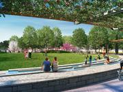 The 3.5-acre waterfront park on Parcel 11 of the Wharf, the planned Southwest Waterfront redevelopment. Hoffman-Madison Waterfront has picked up a permit to start work on the park.