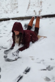The Hibbett Sports crew took advantage of snowy conditions to have some fun.