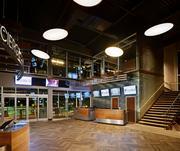 The lobby of a TopGolf facility.