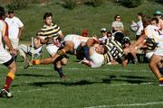 ASU's rugby team in action.