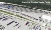 A conception of what the intermodal yard will look like.