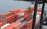 Containers being loaded at Port Everglades.