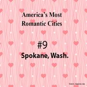 America's most romantic cities, as picked by Amazon.com.