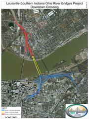 The new bridge will carry northbound Interstate traffic between Louisville and Jeffersonville and will be built east of the Kennedy Bridge.
