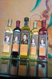 DLM sells private label olive oil and vinegars branded after Vera Mayne and her daughters.
