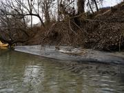 Duke Energy is developing a plan to remove the coal ash from this deposit just downstream from where 82,000 tons spilled into the Dan River last week.
