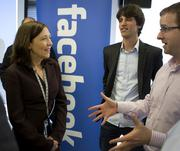 Sen. Maria Cantwell, D-Wash., shown here at the opening of Facebook's Seattle office in 2012, will become chair of the Senate Small Business & Entrerpreneurship Committee.