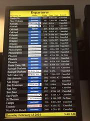 You also aren't likely to get a flight anywhere. Most flights at Baltimore/Washington International Thurgood Marshall Airport have been canceled.
