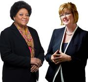 Charisse R. Lillie (left) of  Comcast Corp. and Comcast Foundation with CEO Eileen McDonnell of the Penn Mutual Life Insurance Co.