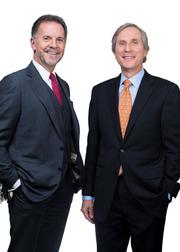 Gerard H. Sweeney (right) of  Brandywine Realty Trust with WHYY CEO William Marrazzo.