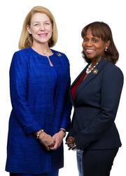 Ann Thornton Field (left), Gordon & Rees LLP  with CEO Natalye Paquin, Girl Scouts of Eastern Pennsylvania.