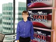 Joey Hudy, 16, is interviewed at the Bloomberg News Studio in Washington before visiting the White House for a second time.