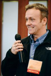 Eric Skaggs wants to learn how to make money online and bets others do too. Here, he proposes an idea for a social network called BuckGet.com that will allow people to discover ways to earn a living online to the audience and panel at the Enterprise Forum Pittsburgh.