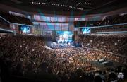 This is a rendering of what a concert would look like at the downtown arena.