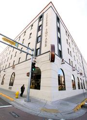 The Copper Square office building at 500 Copper Ave. NW is 66,000 square feet and nearly vacant. Broker John Henderson said the 80-year-old building, listed for $2.9 million, was remodeled in 2008.