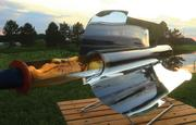 Applied Sunshine's Go Sun stove The GoSun Stove is a solar cooker that can bake, boil or fry a meal in as little as 20 minutes. When finished, it can fold up into a portable 3 1/2 lb. package.
