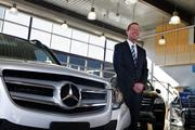 Bobby Cuillo, president of the Wichita Luxury Collection, stands inside the collection's new Mercedes-Benz of Wichita showroom on North Greenwich Road, just north of 13th Street. The facility opened in fall 2013.