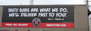 Opponents of the proposed legislation said that this Jimmy John's advertisement at 1940 First Ave. S. also would have been nonconforming under the proposed legislation.