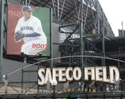 The Felix Hernandez banner at Safeco Field would not have been permitted under the proposed sign-code legislation, foes of the proposed new rules said. If passed, the law would not affect existing large, permitted wall signs.