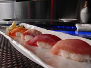 The sushi's chef's selection at Sushi Paradiso.