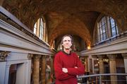 """Joe Adams, Creative Alliance co-founder, helped lead the redesign efforts for their office space inside the historic Kentucky Home Life building. """"It was a collaborative effort,"""" said Adams, who worked alongside architect Dan Preston to reshape the way the giant mezzanine space inside the building was utilized."""