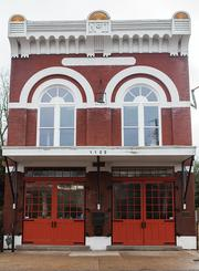The Marian Development Group office building is a restored firehouse built in 1883.