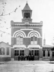 An archival photograph of the former firehouse.