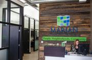 The lobby at Marian Development Group is shown above.