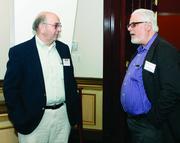 Richard Dupree, left, of EKT Interactive and John Stein of Renewable Manufacturing Gateway.