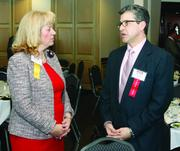 Ruthann Omer of The Gateway Engineers Inc. and Lou Villotti of Southwestern PA Commission.