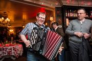 It's not a party without a little accordion music.