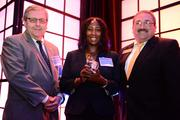 Steve Kennedy, LisaRae Jones and Mark Mathews with the city of Kennesaw winners in the midsize company.