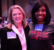 Cheryl Iverson and Hazel Clark with DeKalb Medical Employee Health Solutions.