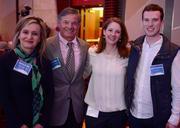 Karen Klopp with Fallon Benefits, Steve Fallon CEO of Fallon Benefits Natalie Moore with Fallon Benefits and Quinn Giardina with 22squared.