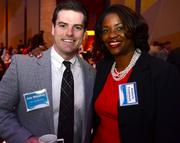 Joey Monahan with Fallon Benefits and Kimberly Funderburk with Blue Cross Blue Sheild.