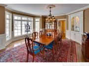 The home has hardwood floors in the formal dining room and throughout.