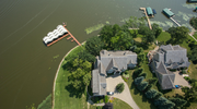 The Swanstone home has panoramic views of Forest Lake.