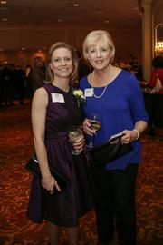 Jenny Basile (left) of HGA Architects & Engineers Inc., one of the 40 Under 40 winners