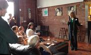Dr. Jill Stein spoke Thursday night at a Green Drinks Charlotte gathering.