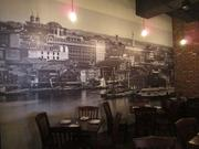 The back dining room at Heavy Seas Ale House in Rosslyn, which can accommodate 65 or two smaller groups.