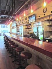 A view of Heavy Seas' 22-seat bar.